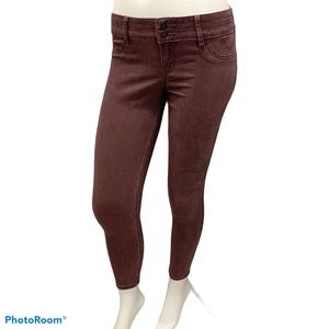 NWT Hollister Low Rise Purple Crop Skinny Jeans 3